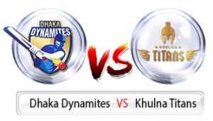 Match Prediction of Dhaka dynamites vs Khulna titans 13th T20, 14th Nov 2017