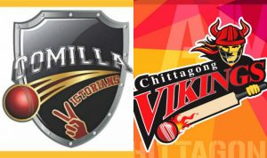 Match prediction of Comilla victorians vs Chittagong vikings 14th T20, 14th November 2017