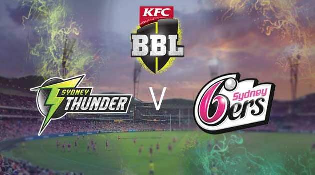 Match predictions of sydney thunder vs sydney sixers